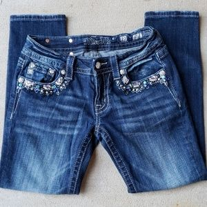 Miss Me Cropped Skinny Jeans.  Size 27
